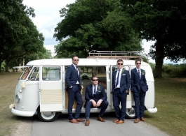 Classic VW Campervan for weddings in Horsham